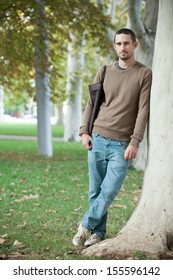 Handsome young man outdoors
