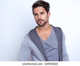 handsome young man posing in casual outfit