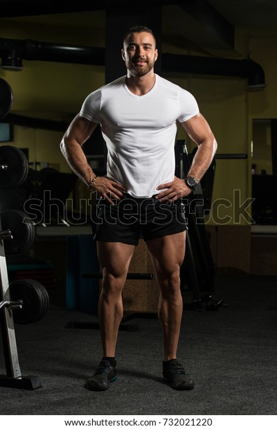 Gym Bodybuilding T-shirt for Bodybuilding Fitness Flex White Shirt
