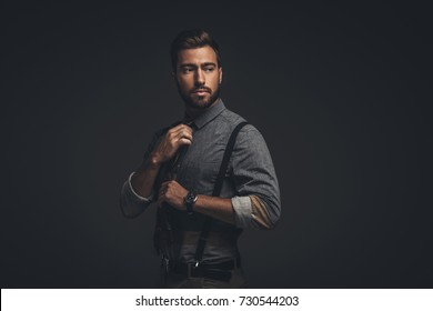 Man Suspenders Images, Stock Photos & Vectors | Shutterstock