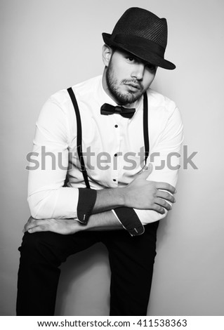 Handsome Young Man White Dress Shirt Stock Photo Edit Now