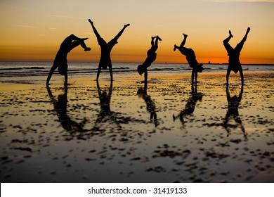 Handstands at Sunset