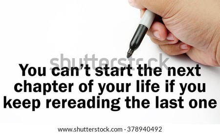 Handwriting Inspirational Motivation Quotes You Cant Stock Photo