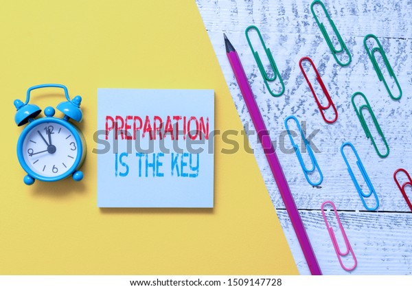 Handwriting Text Preparation Key Concept Meaning Stock Photo