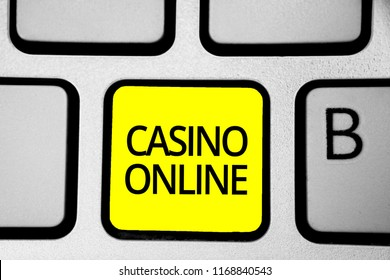 Handwriting text writing Casino Online.