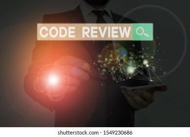 Handwriting text writing Code Review. Concept meaning single most effective technique for identifying security flaws.