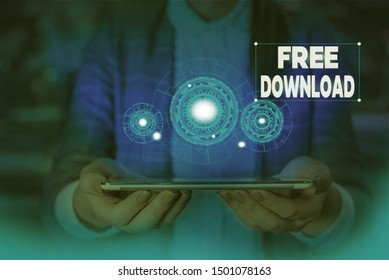 Handwriting text writing Free Download. Concept meaning Key in Transfigure Initialize Freebies Wireless Images Woman wear formal work suit presenting presentation using smart device.