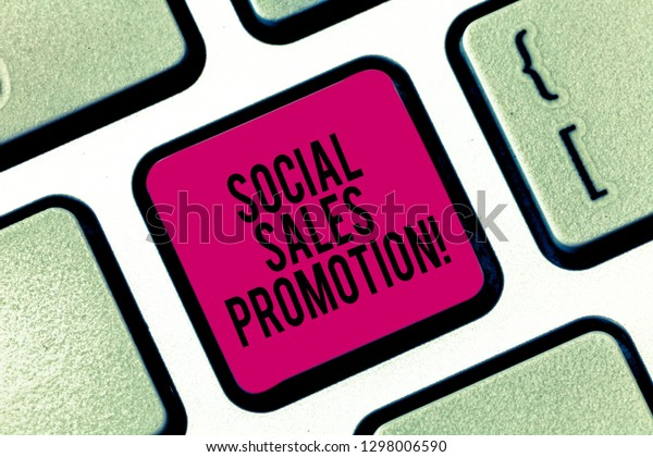 Handwriting Text Writing Social Sales Promotion Stock Photo
