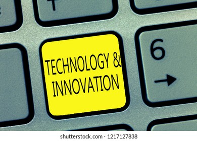Handwriting text writing TechnologyandInnovation. Concept meaning Application of better Solution for New Market Needs