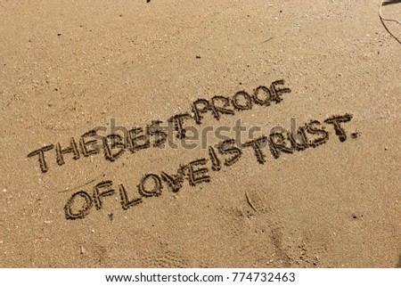 Handwriting Words The Best Proof Love Stock Photo Edit Now