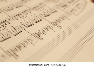hand-written music composition for piano