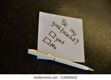 Handwritten notepad, personal message.