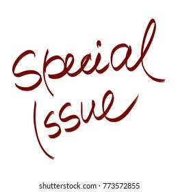 handwritten phrase special issue