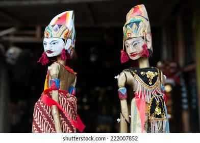 Handycraft doll in a shop in Bali, Indonesia