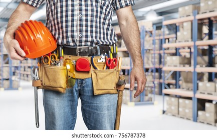 handyman detail and classic warehouse background