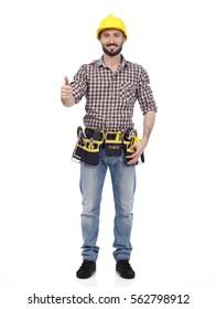 Handyman showing ok sign