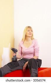 Handywoman repair home