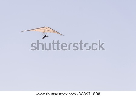 Hang Glider Delta Wing Flight Stock Photo (Edit Now