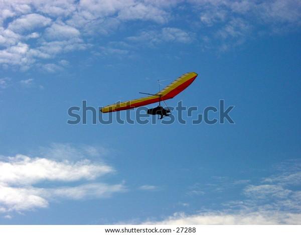 Hang gliding at Fort Funston in San Francisco California