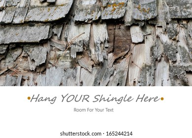 Hang Your Shingle Here Business or Website Announcement with Room for YOUR Text