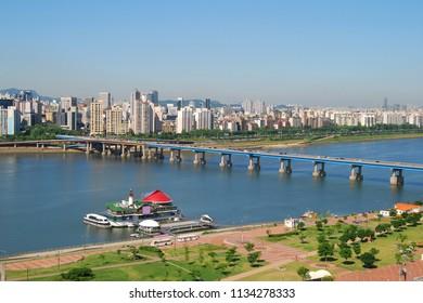Hangang River in Gangnam Seoul, Korea