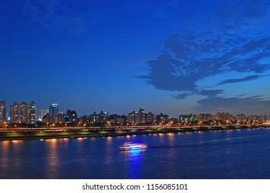 Hangang river night view - Seoul, Korea