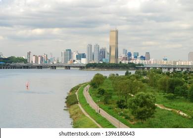 Hangang River Windsurfing and Bicycle Leisure Scenic Area - Seoul, Korea