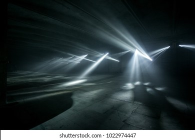 hangar room with beautiful light