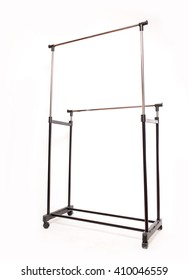 hanger for clothes. it is removed in studio on a white background