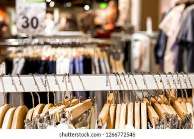 Hangers in the store of Bangkok, Thailand.