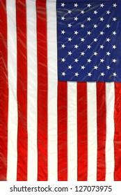 hanging American flag