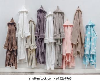 hanging bathrobe
