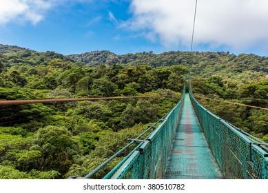 Hanging Bridges in cloud forest Monteverde - Costa Rica