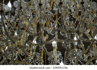 Hanging Chandelier Close Up View