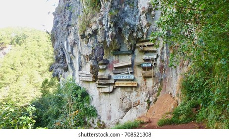 Hanging coffins, traditional way how to bury people, Philippines