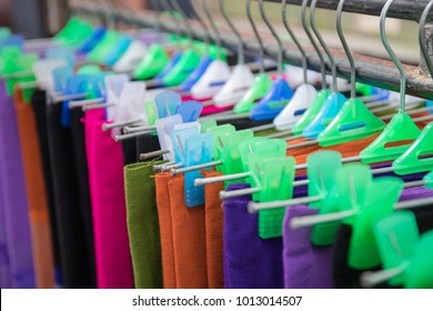 Hanging colorful sarongs