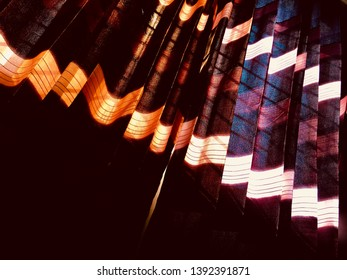 A hanging curtain clothes of a window unique photo