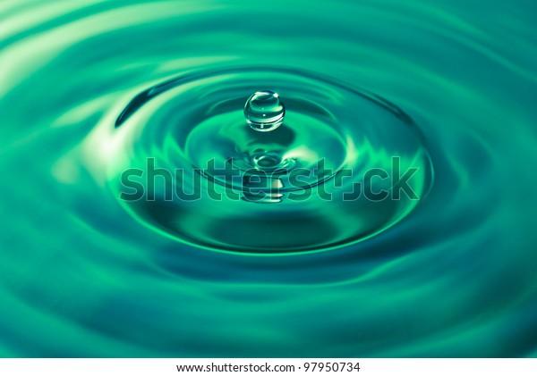 hanging droplet