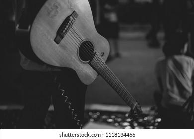 A Hanging guitar