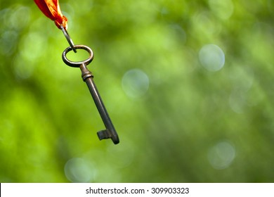 Hanging key - coaching and mentoring symbol