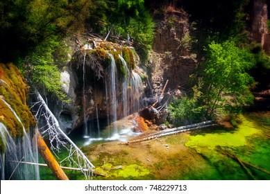 Hanging Lake waterfalls near Glenwood Springs Colorado