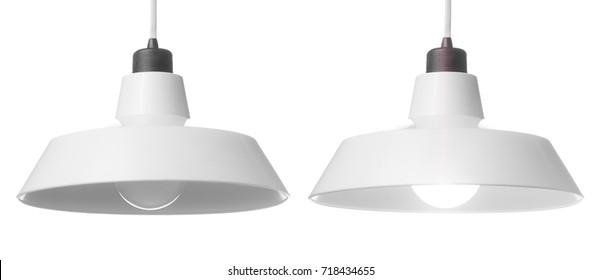 hanging lamp, isolated on white background.