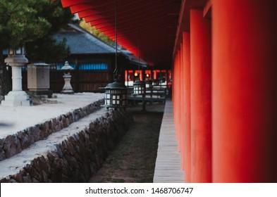 Hanging lanterns of Itsukushima shrine