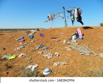 Hanging Out to Dry Wild Clothesline of Outback Australia Hills Hoist Way Out West