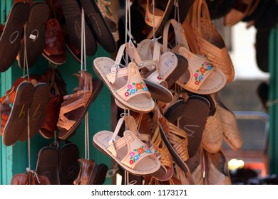 hanging sandals