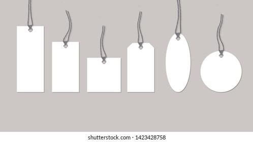 Hanging Tags Mock Up Minimalistic