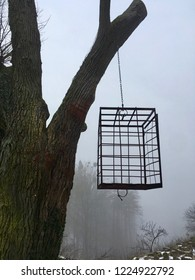 Hanging torture Cage prison, german tradition in a scary place.