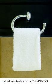 Hanging Towel in a bathroom