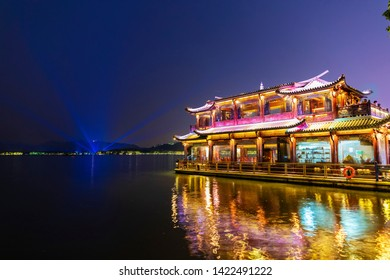 Hangzhou - China - May 22, 2019:This is the West Lake (xihu)of Hangzhou, China.China's famous tourist attractions.