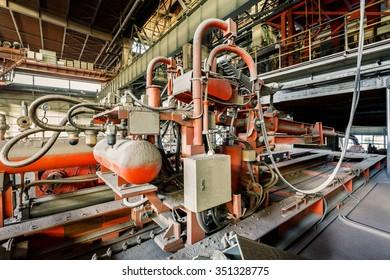 Hangzhou, China - on December 3, 2015?hangzhou Steel mills industrial Pressure driven equipment scene??the steel works is a large iron and steel  factory in hangzhou?
